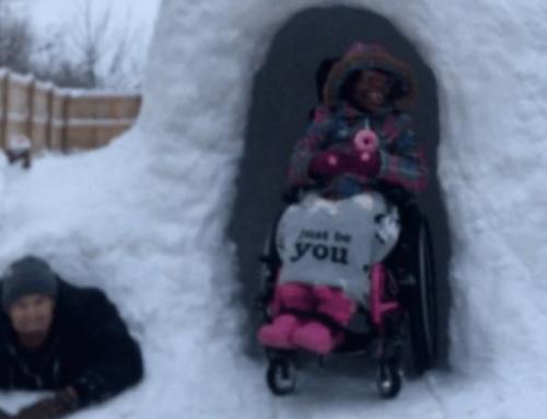 Iglut épített kerekesszékes kislányának ez az ohiói apa